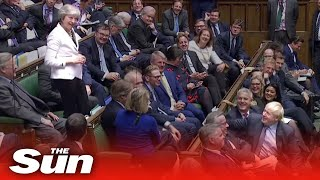 'I know how you feel!' Boris jokes with Theresa May