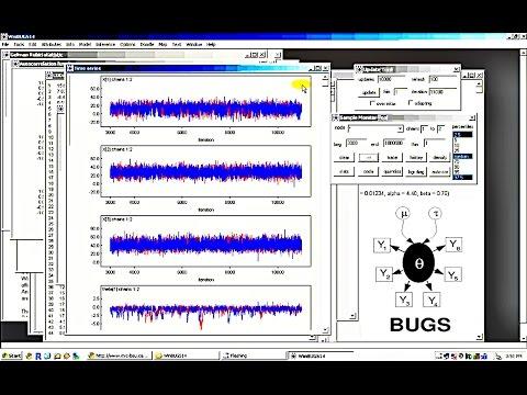 WinBUGS tutorial for beginners in ~6 mins: Bayesian Data Analysis Software