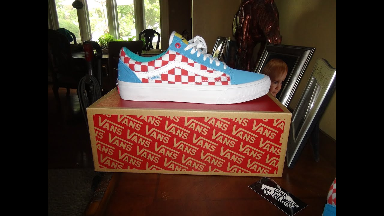 96ddb06898e308 VANS X GOLF WANG RED BLUE WHITE OLD SKOOL PRO - YouTube