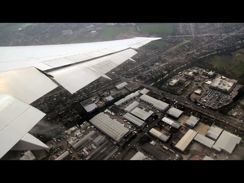 Takeoff from London Heathrow (Delta Air Lines Boeing 767-400ER)