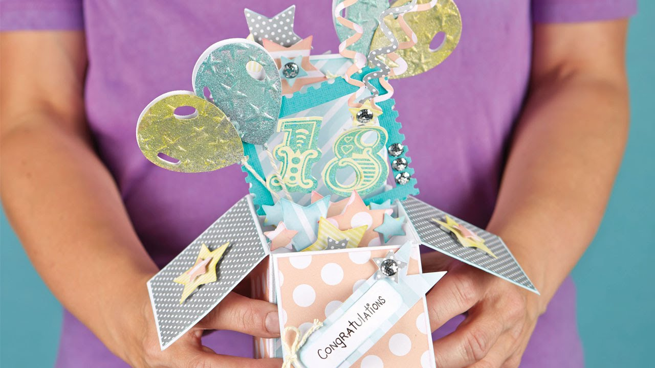 how to make a pop up box card craft techniques youtube