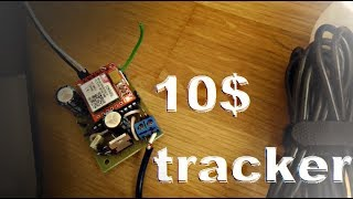 Make your own cheap DIY GSM GPS bike  car tracker for only 10 USD !