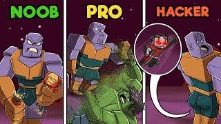 Minecraft - THANOS VS AVENGERS BASE! (NOOB vs PRO vs HACKER)