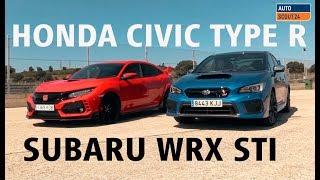 Honda Civic Type R Vs Subaru WRX STI   Comparativa en el Jarama
