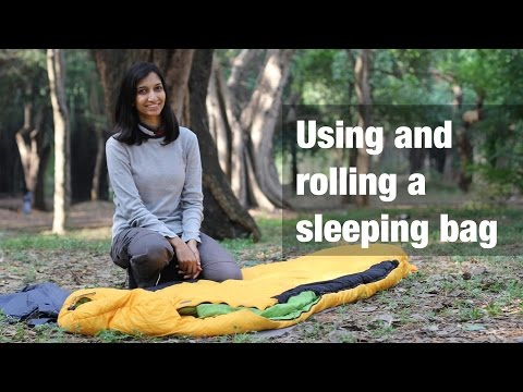 How to use and roll a sleeping bag