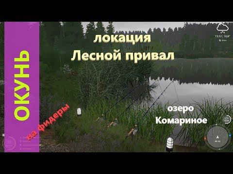 Русская рыбалка 4 - озеро Комариное - Окунь у камышей