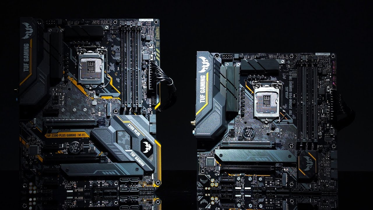 ASUS TUF Z390-PLUS GAMING WiFi and Z390M-PRO: Overview