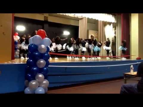Lady rockets 147 at Uft charter school step competition March 29