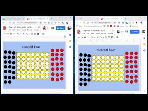 Play Connect 4 using Google Drawings