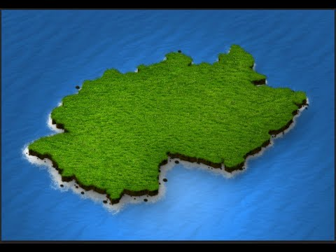 Tutorial - How to create 3D Map in Photoshop : 3D Map Generator Pro on