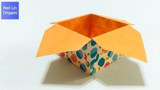 如何在家就可以快速製作實用的收納盒 - 簡單摺紙盒子教學 兒童折紙 手工折紙DIY