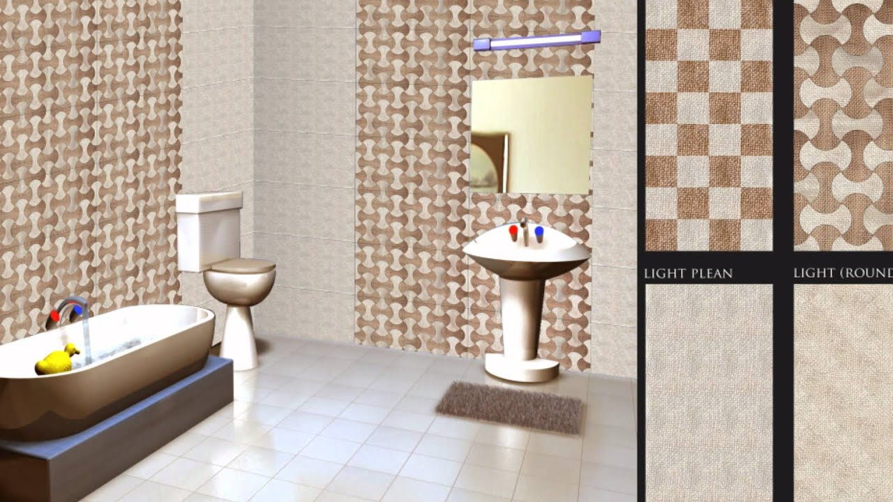 Goldsil digital wall tiles youtube Bathroom design companies in india
