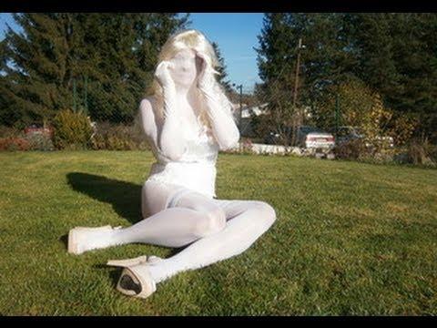 encasement white pantyhose