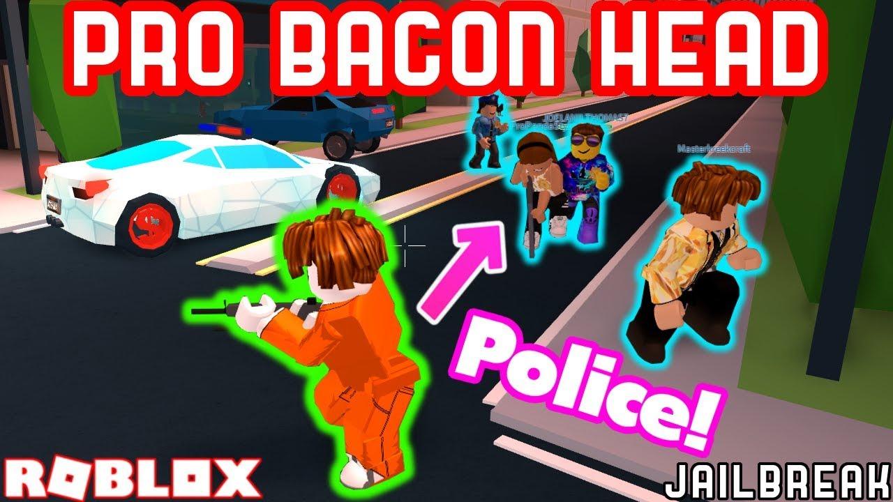 Best Bacon Hair Cops In Jailbreak Roblox Jailbreak W Pro Bacon Hair Vs 5 Police Officers Roblox Jailbreak Highest Bounty Youtube