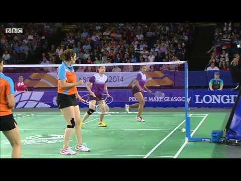 Mixed Team Bronze - SIN vs IND - WD - 2014 Commonwealth Games badminton