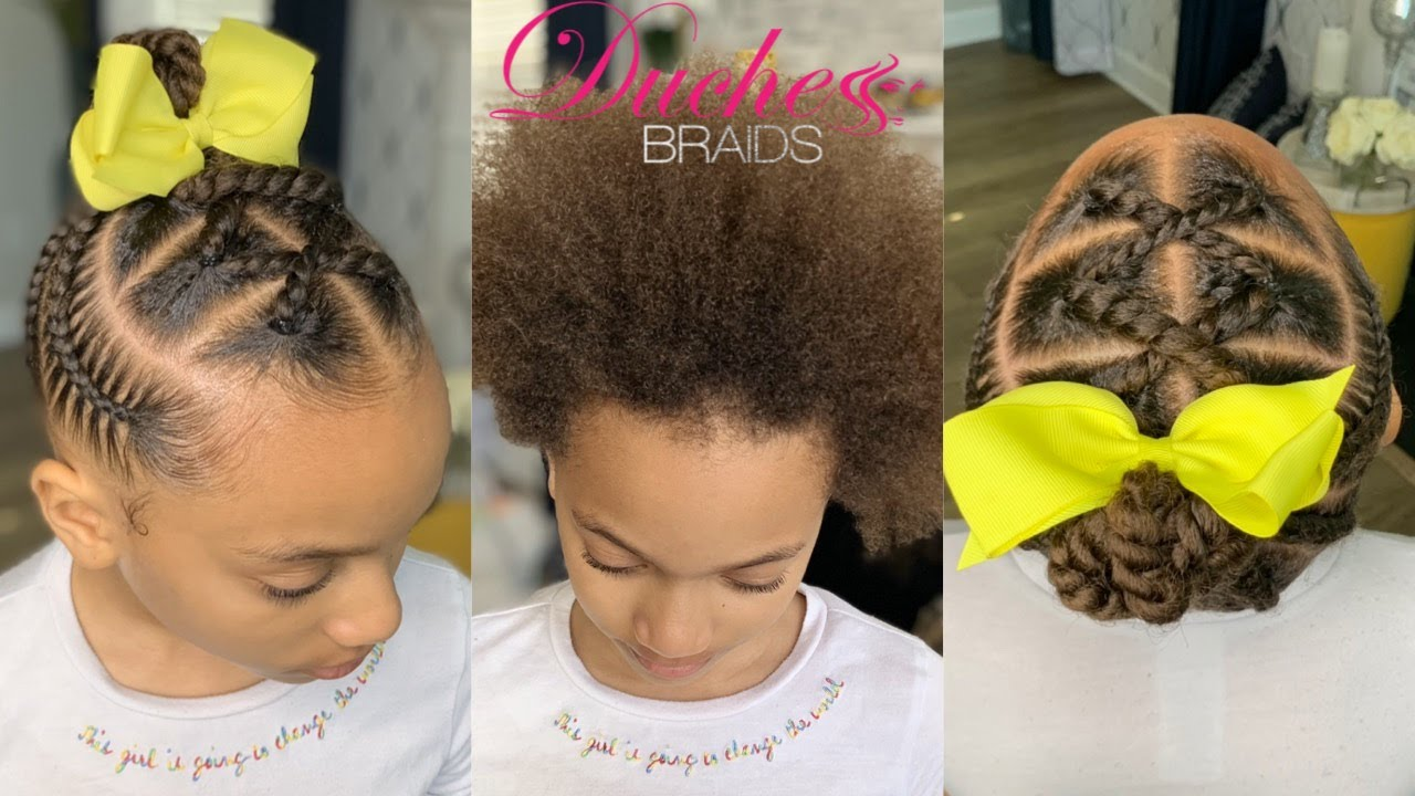 How To Simple Kids Braid Styles Youtube