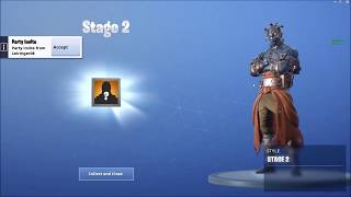 HOW TO UNLOCK STAGES OF THE SNOWFALL SKIN! | Fortnite