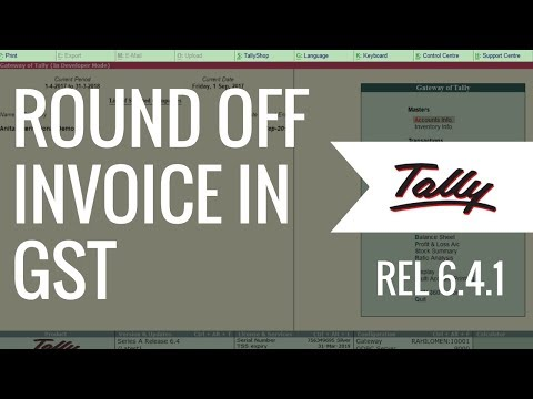 NEW FEATURE : Round off Invoice Values in Tally GST Invoice | Tally ERP9 Rel 6.4.1 Update