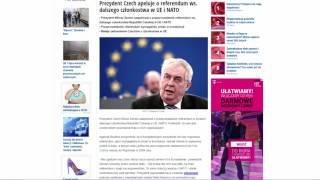 Zeman chce wyjścią Czech z EU i NATO, prawidłowa decyzja Ap  18, Za  2