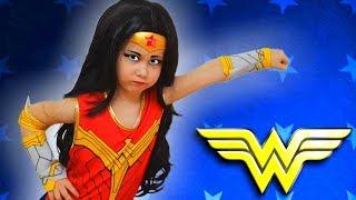 Super Hero Girls Kids Make Up Yulya Dress Up like a Little Hero