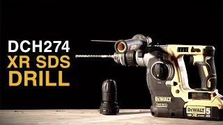 dch274 18v xr li ion cordless sds hammer drill from dewalt