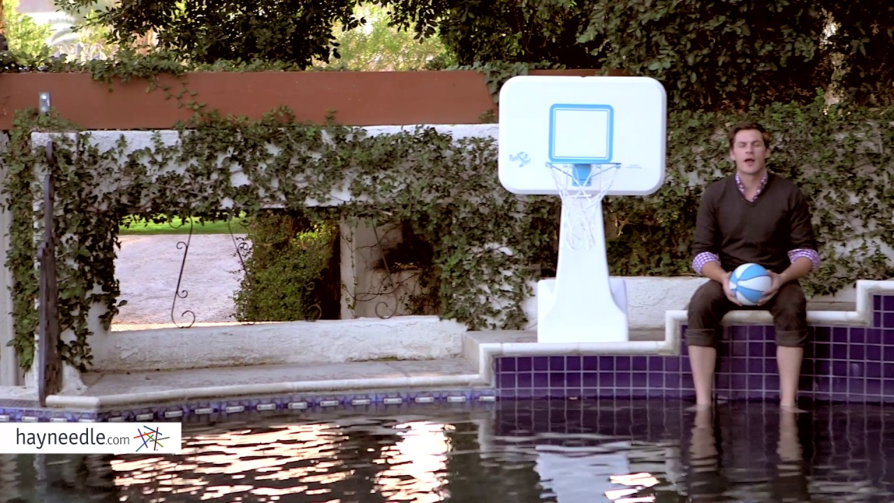 Dunn Rite PoolSport Portable Pool Basketball Hoop - Product Review Video