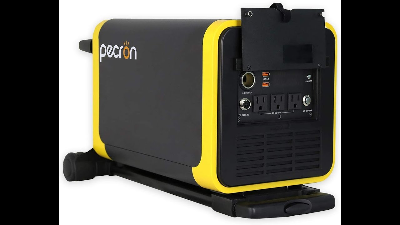 video 2000w Pecron Q3000S Rechargeable Portable Solar Power Lithium Battery AC and DC Output