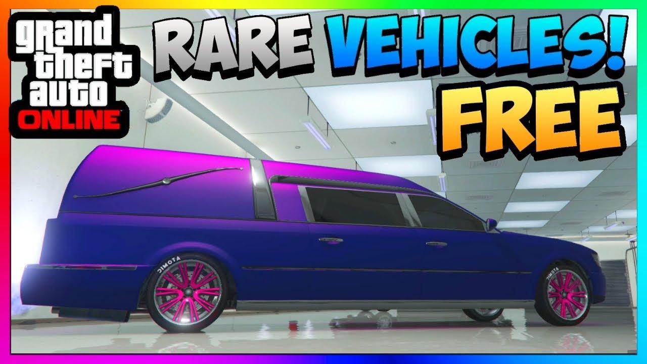 Gta 5 Online Store Rare Cars For Free Romero Hearse Funeral Car