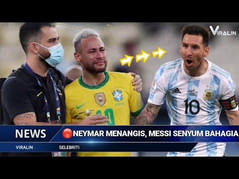 Neymar Nangis, Messi Girang Usai Argentina Juara Copa America~Berita Bola Hari Ini