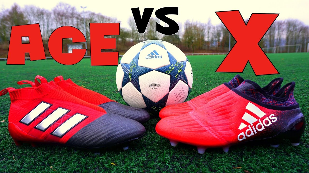 pretty nice e4542 9c76f Adidas ACE vs X - Purecontrol vs Purechaos - Red Limit Test - YouTube