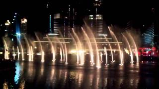 Whitney Huston Dubai Mall fountain show