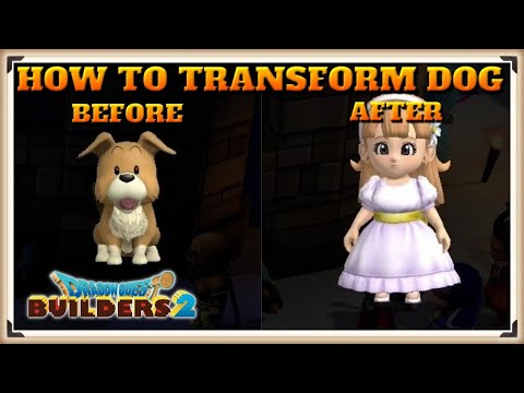 Dragon Quest Builders 2 Secret Character - How To Transform The Dog With Ra's Mirror