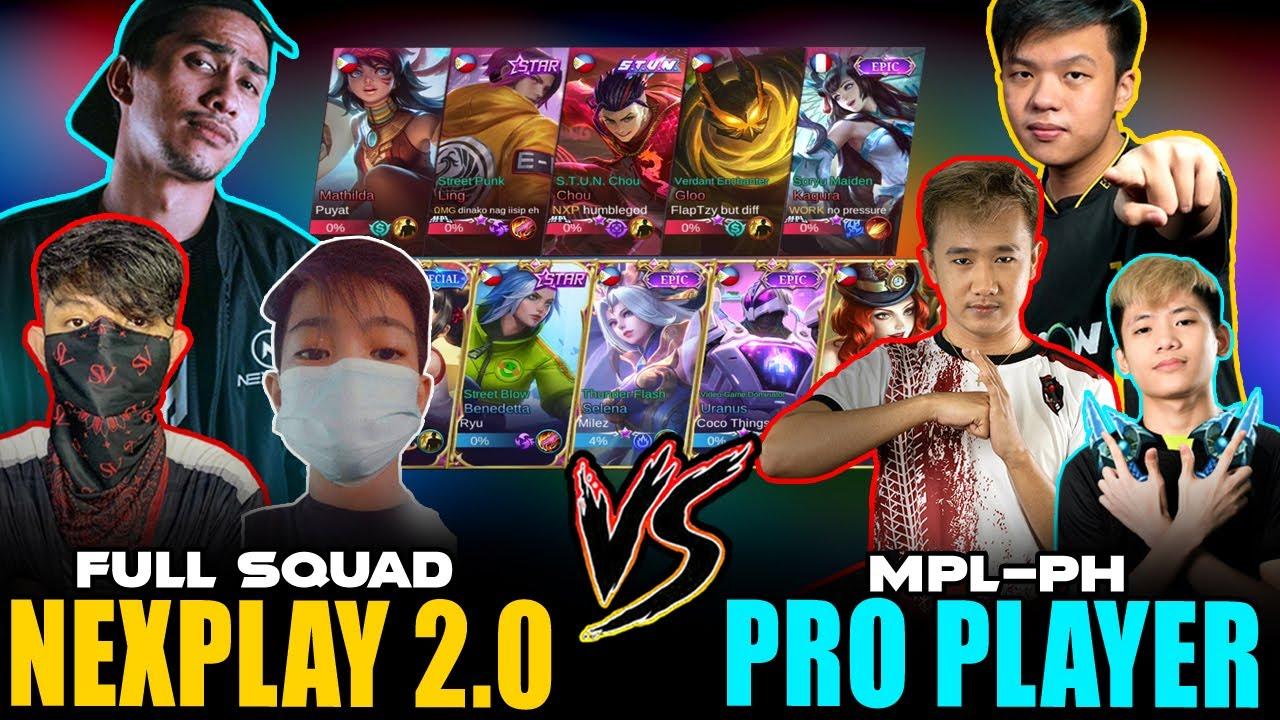 NEXPLAY 2.0 vs. PRO PLAYER (Bren FlapTzy, Work rTzy, OMG Hadjizy,  NXP Exort) ~ Mobile Legends