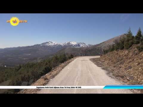 Sagalassos Antik Kenti Ağlasun Arası Yol Araç Safari 4K UHD