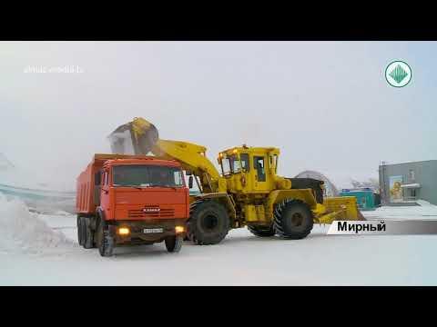 Как работает аэропорт Мирного зимой