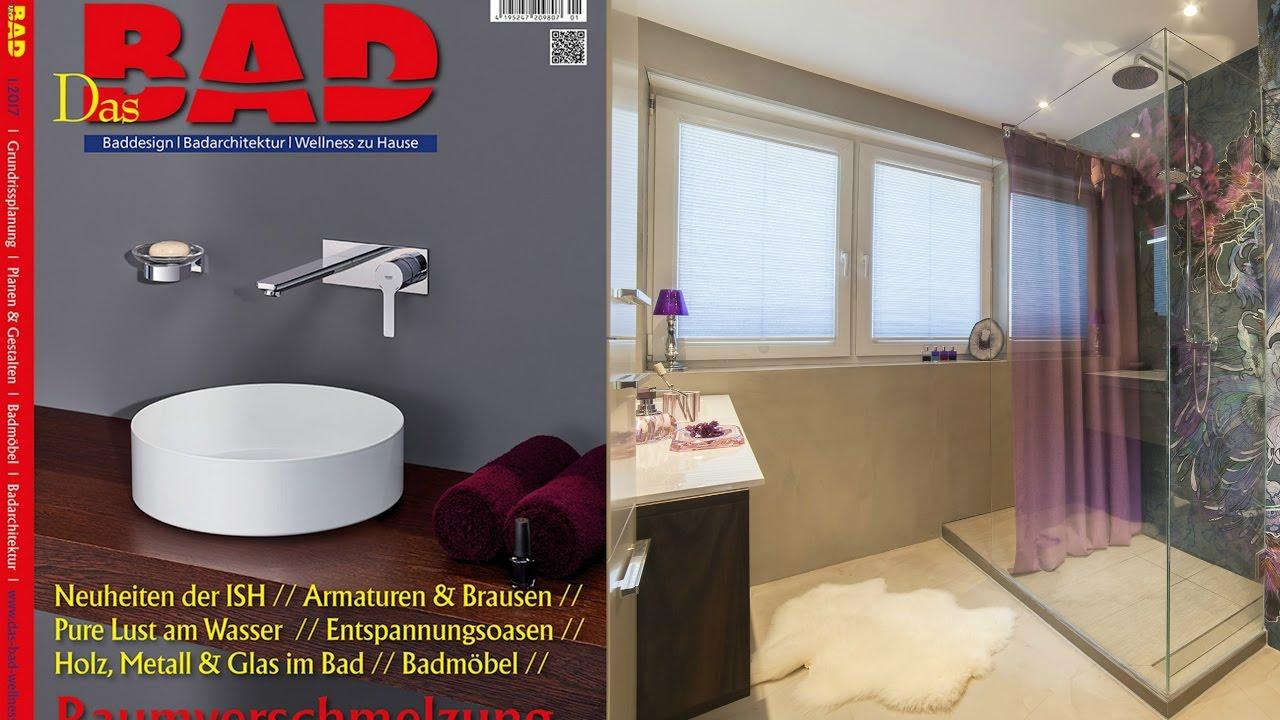 Fugenloses Baddesign ohne Fliesen Badewanne raus Dusche ...