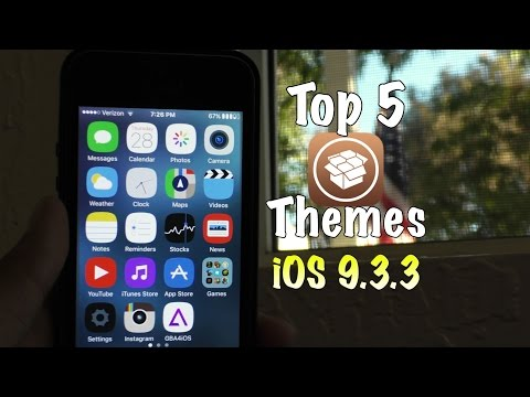 Top 5 Free Themes for iOS 9.3.3 using Anemone