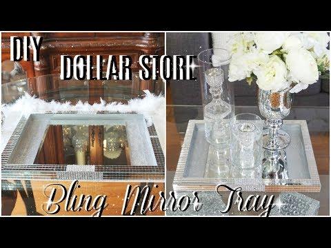 DIY DOLLAR STORE GLAM MIRROR DISPLAY TRAY  DIY HOME DECOR IDEA  PETALISBLESS