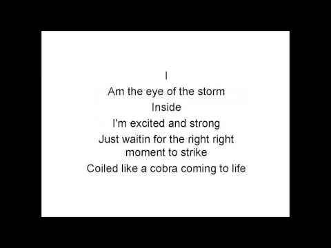 Eye of the storm - Lyrics