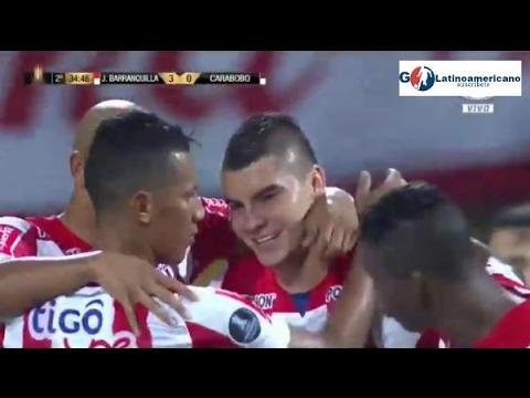 Junior vs Carabobo 3-0 - Todos los Goles - Pre Copa Libertadores - 07/Febrero/2017