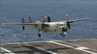 Aircraft carrying 11 crashes en-route to USS Ronald Reagan thumbnail