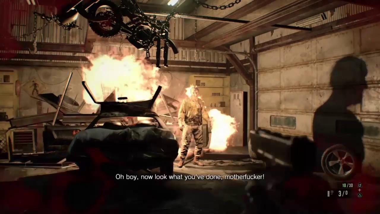 Resident Evil 7 Garage Fight Full Guide Walkthrough Youtube