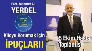 Prof. Dr. Mehmet Ali Yerdel' den tüp mide ameliyatı sonrasında kilo korumak için ipuçları.