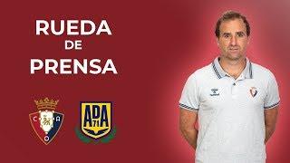Rueda de prensa post-partido Osasuna - Alcorcón