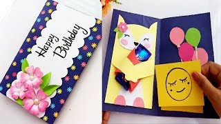 How to make Birthday Gift Card. DIY Greeting Cards for Birthday.