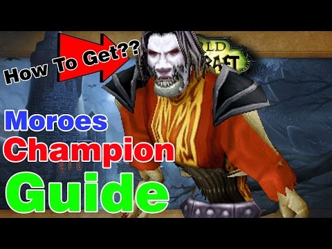 HOW TO GET MOROES AS A CHAMPION│World Of Warcraft Legion