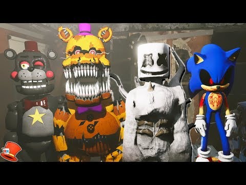 NIGHTMARE MARSHMELLO & SONIC.EXE THE HEDGEHOG SCARY STORIES! (GTA 5 Mods FNAF Kids FNAF RedHatter) thumbnail