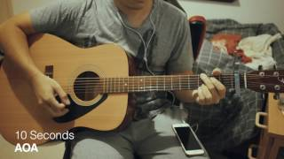 AOA (에이오에이) - 10 Seconds Acoustic Guitar Chords/Tutorial 기타 코드