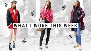 WHAT I WORE THIS WEEK | travel outfit, working from home, birthday dinner
