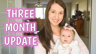 THREE MONTH BABY UPDATE | POSTPARTUM UPDATE | Erika Ann
